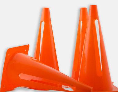 Lot de 4 cônes flexibles de délimitation - 30cm